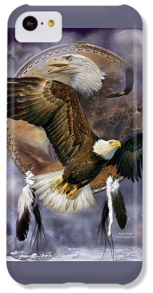 Dream Catcher - Spirit Eagle IPhone 5c Case by Carol Cavalaris