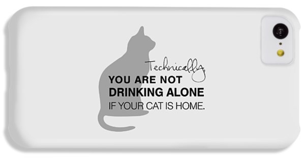 Drinking With Cats IPhone 5c Case by Nancy Ingersoll