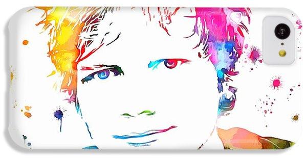Ed Sheeran Paint Splatter IPhone 5c Case by Dan Sproul