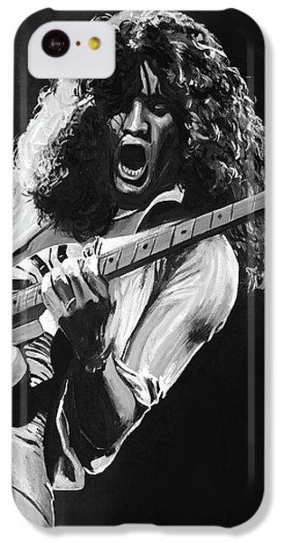 Eddie Van Halen - Black And White IPhone 5c Case by Tom Carlton