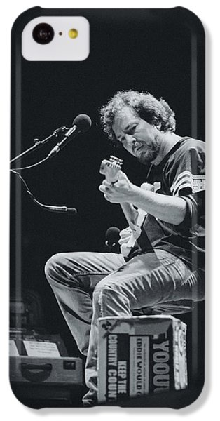 Eddie Vedder Playing Live IPhone 5c Case by Marco Oliveira