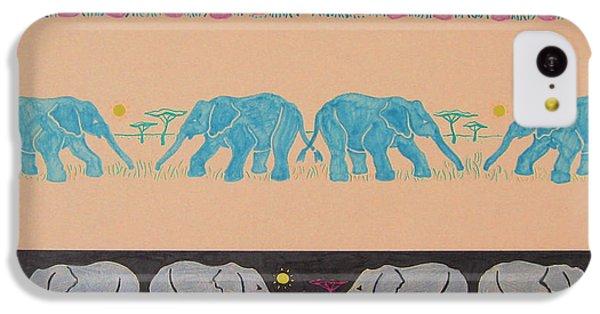 Elephant Pattern IPhone 5c Case by John Keaton