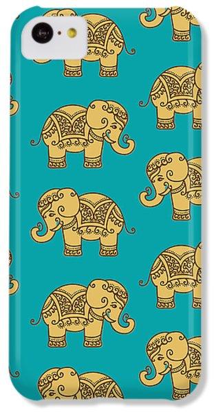 Elephant Pattern IPhone 5c Case by Krishna Kharidehal