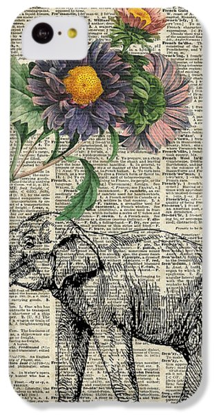 Elephant With Flowers IPhone 5c Case by Jacob Kuch