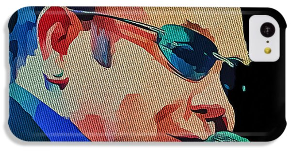 Elton John Blue Eyes Portrait 2 IPhone 5c Case by Yury Malkov
