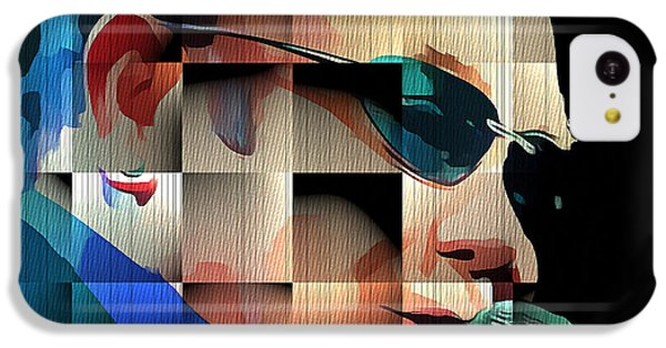 Elton John In Cubes 1 IPhone 5c Case by Yury Malkov