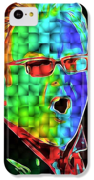 Elton John In Cubes 2 IPhone 5c Case by Yury Malkov