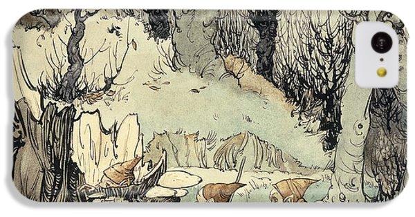 Elves In A Wood IPhone 5c Case by Arthur Rackham