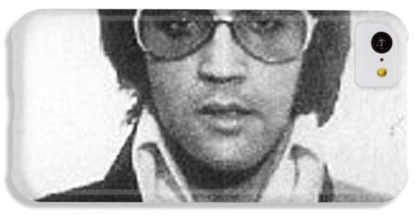 Elvis Presley Mug Shot Vertical IPhone 5c Case by Tony Rubino