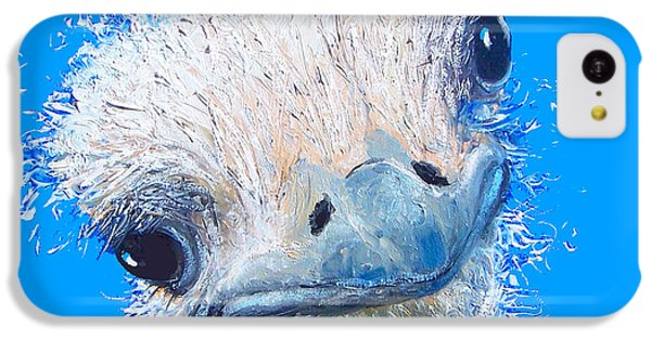 Emu Painting IPhone 5c Case by Jan Matson