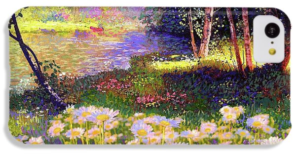 Enchanted By Daisies, Modern Impressionism, Wildflowers, Silver Birch, Aspen IPhone 5c Case by Jane Small
