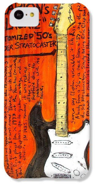 Eric Claptons Stratocaster Blackie IPhone 5c Case by Karl Haglund