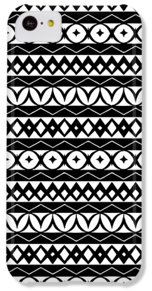 Fair Isle Black And White IPhone 5c Case by Rachel Follett