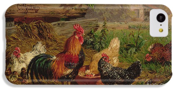 Farmyard Chickens IPhone 5c Case by Carl Jutz