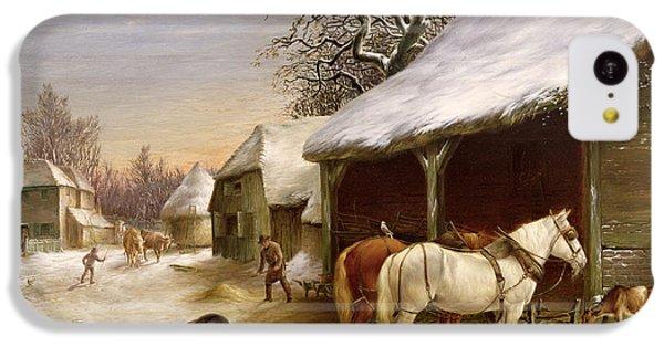 Farmyard In Winter  IPhone 5c Case by Henry Woollett