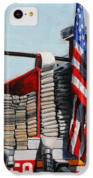 Fdny Engine 59 American Flag IPhone 5c Case by Paul Walsh