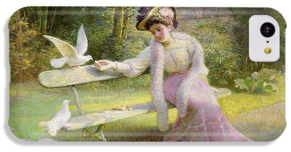 Feeding The Doves  IPhone 5c Case by Edmond Alphonse Defonte