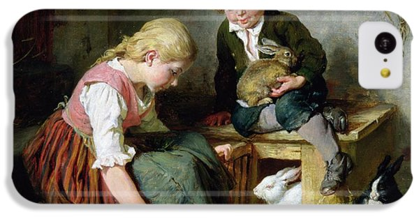 Feeding The Rabbits IPhone 5c Case by Felix Schlesinger