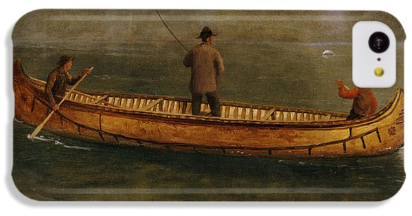 Fishing From A Canoe IPhone 5c Case by Albert Bierstadt