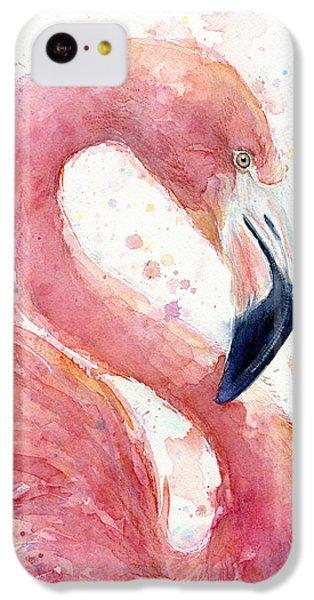 Flamingo - Facing Right IPhone 5c Case by Olga Shvartsur