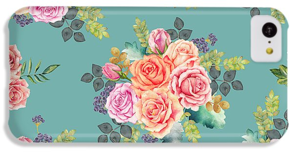 Floral Pattern 2 IPhone 5c Case by Stanley Wong