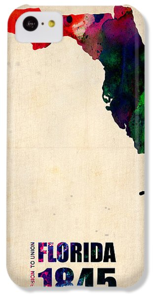 Florida Watercolor Map IPhone 5c Case by Naxart Studio