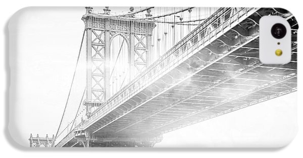 Fog Under The Manhattan Bw IPhone 5c Case by Az Jackson