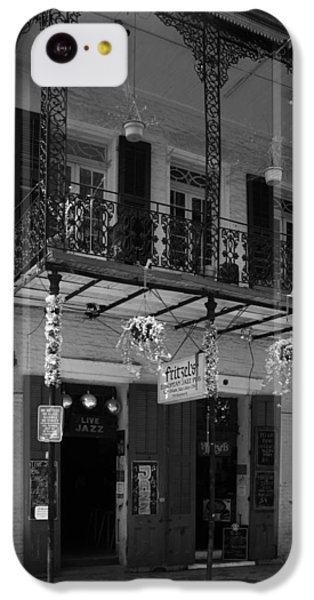 Fritzel's European Jazz Pub In Black And White IPhone 5c Case by Chrystal Mimbs