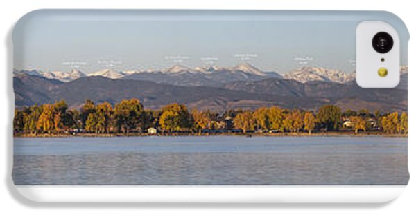 Front Range With Peak Labels IPhone 5c Case by Aaron Spong