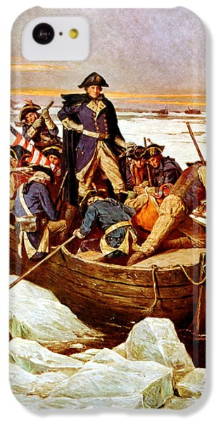 General Washington Crossing The Delaware River IPhone 5c Case by War Is Hell Store