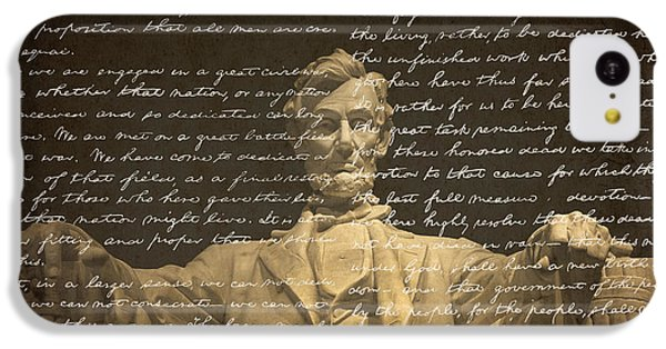 Gettysburg Address IPhone 5c Case by Diane Diederich