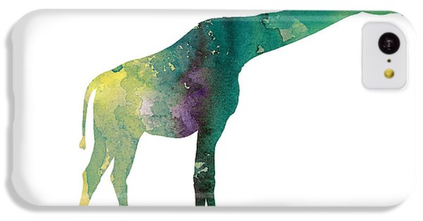 Giraffe Colorful Watercolor Painting IPhone 5c Case by Joanna Szmerdt