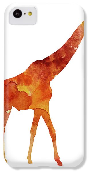 Giraffe Minimalist Painting For Sale IPhone 5c Case by Joanna Szmerdt