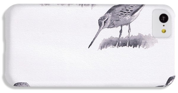Godwits And Green Sandpipers IPhone 5c Case by Archibald Thorburn