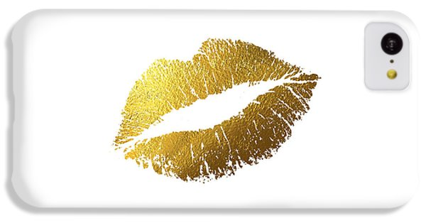 Gold Lips IPhone 5c Case by Bekare Creative