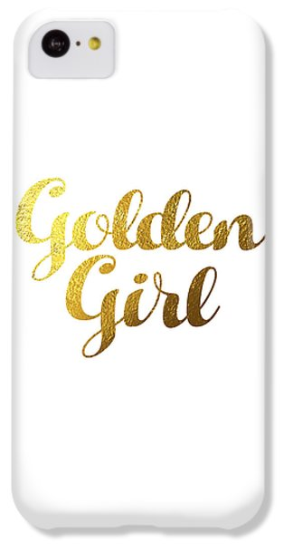 Golden Girl Typography IPhone 5c Case by BONB Creative