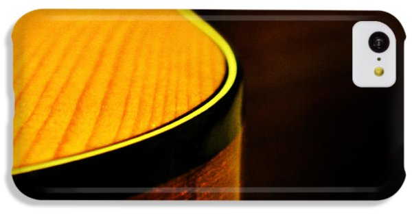 Golden Guitar Curve IPhone 5c Case by Deborah Smith