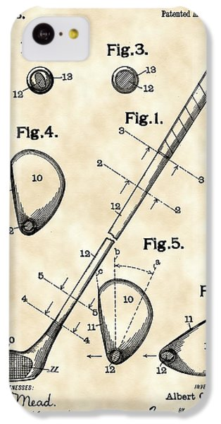 Golf Club Patent 1909 - Vintage IPhone 5c Case by Stephen Younts