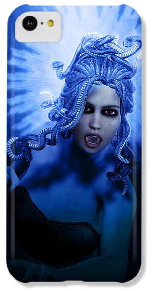 Gorgon Blue IPhone 5c Case by Joaquin Abella