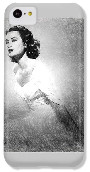 Grace Kelly Sketch IPhone 5c Case by Quim Abella