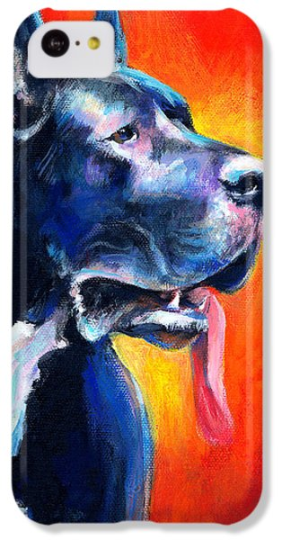 Great Dane Dog Portrait IPhone 5c Case by Svetlana Novikova