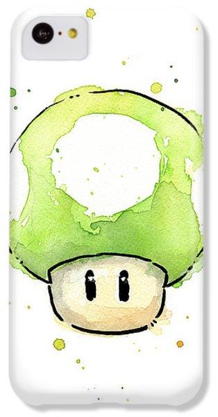 Green 1up Mushroom IPhone 5c Case by Olga Shvartsur