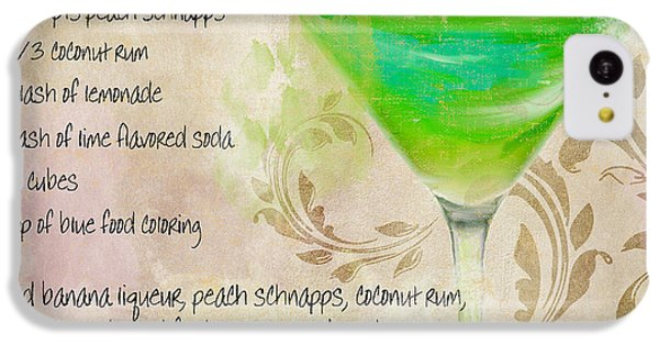Green Angel Mixed Cocktail Recipe Sign IPhone 5c Case by Mindy Sommers