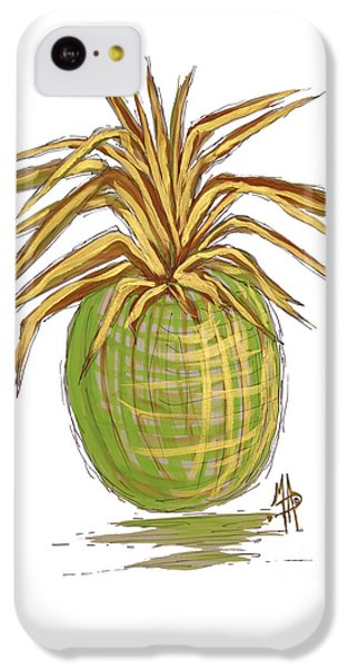 Green Gold Pineapple Painting Illustration Aroon Melane 2015 Collection By Madart IPhone 5c Case by Megan Duncanson
