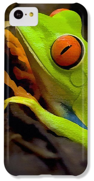 Green Tree Frog IPhone 5c Case by Sharon Foster