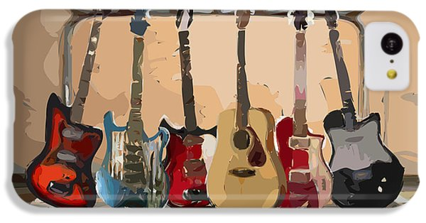 Guitars On A Rack IPhone 5c Case by Arline Wagner