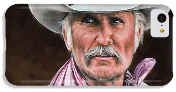 Gus Mccrae Texas Ranger IPhone 5c Case by Rick McKinney