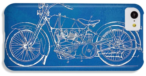 Harley-davidson Motorcycle 1928 Patent Artwork IPhone 5c Case by Nikki Marie Smith
