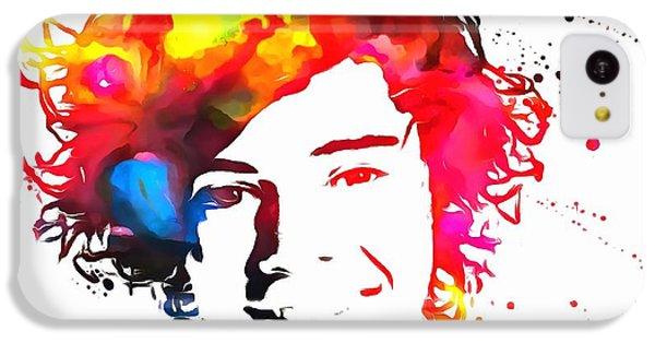Harry Styles Paint Splatter IPhone 5c Case by Dan Sproul