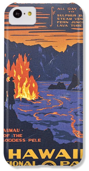 Hawaii Vintage Travel Poster IPhone 5c Case by Georgia Fowler